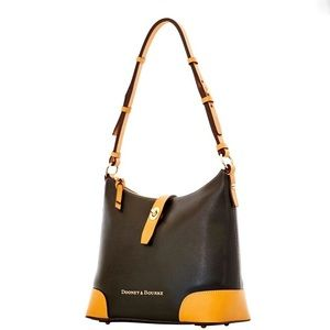 Dooney & Bourke Black Claremont Hobo Bag Purse